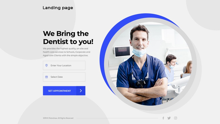 Plantilla Landing Page clínica dental