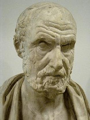 Busto de Hipócrates en el Museo Pushkin.