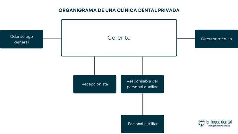 Organigrama de una clínica dental privada