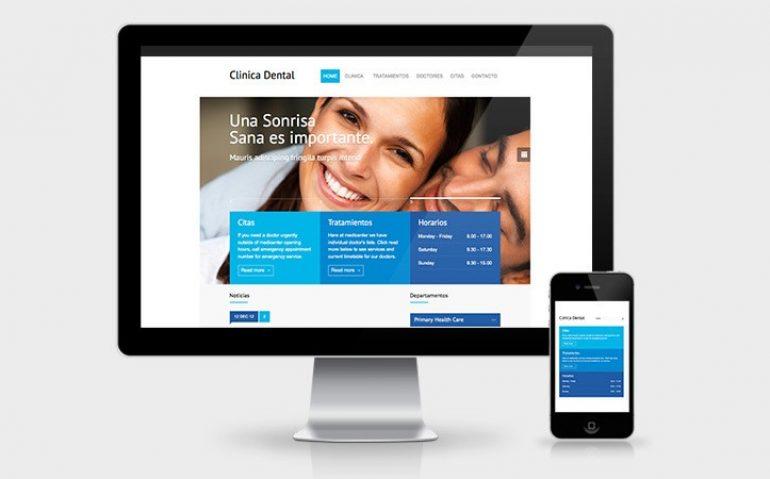 pagina web de una clinica dental